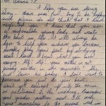 A letter from my mother 96/97